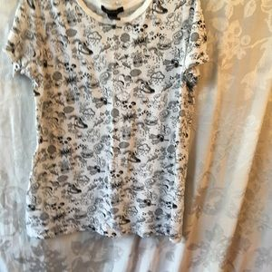 Forever 21 black and white top-Small-Panda*worm